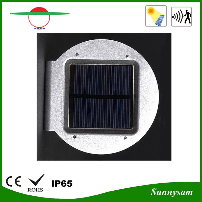 Outdoor Lighting Product 16 LED Solar Power Garden Lamp Microwave Radar Motion Sensor Solar Wall Light
