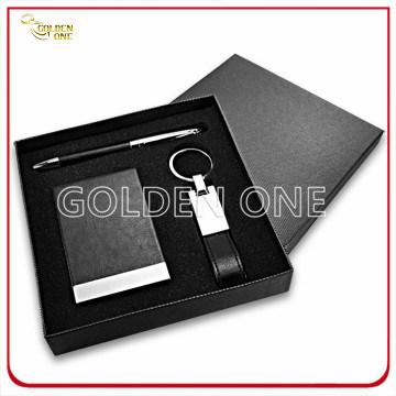 Executive Leather Stationery with Card Holder Gift Set
