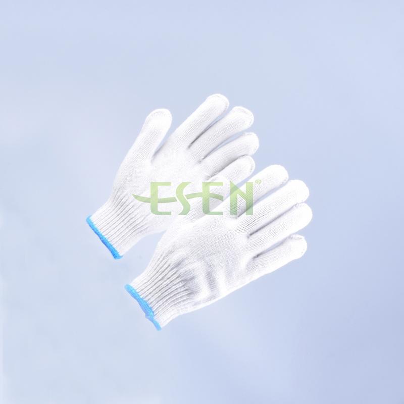 Safety Gloves/Working Gloves/Hand Gloves/Cotton Gloves/Knitted Gloves in Blue Edge