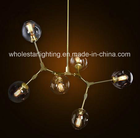 Modern Glass Chandelier Lamp (WHG-180)