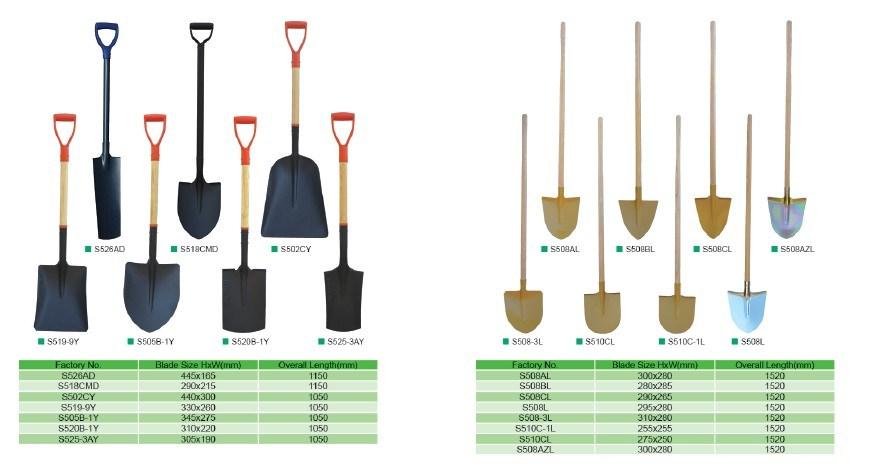 Fiberglass Handle Shovel Spade Fork Construction Tools Garden Tools