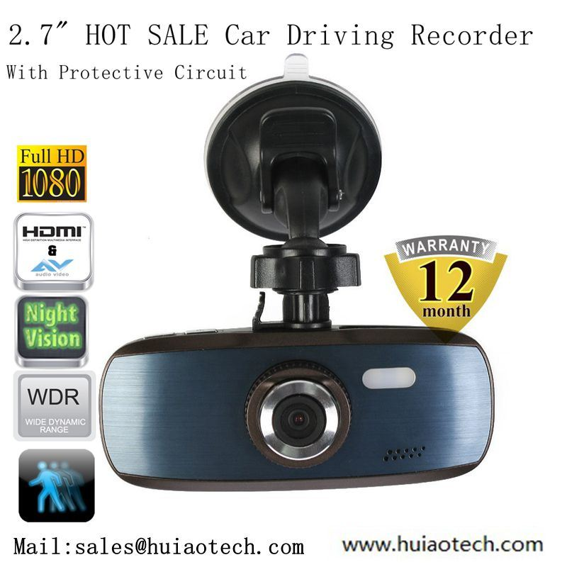 "Hot Sale 2.7"" FHD 1080P Car Digital DVR Car Black Box Recoder with Novatek 96650; Aptina Ar0330 5.0mega Car Parking Camera, Night Vision; G-Sesnsor; DVR-2712"