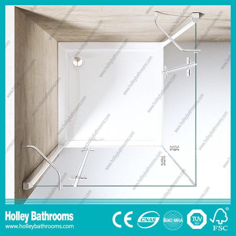 Hinger Door Modern Fashion Double Doors Selling Simple Shower Cubicle (SE710C)