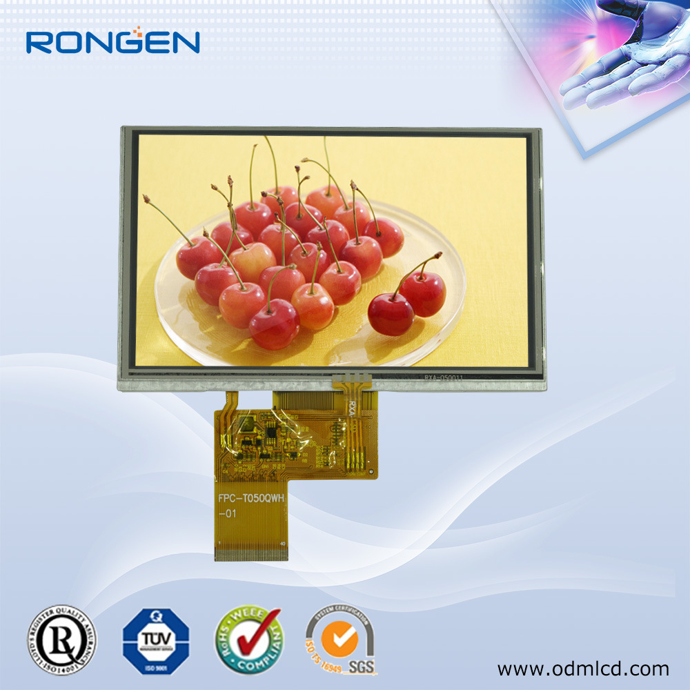 ODM Innolux 5 Inch LCD Screen High Quality LCD Display 800X480 with Touch Screen