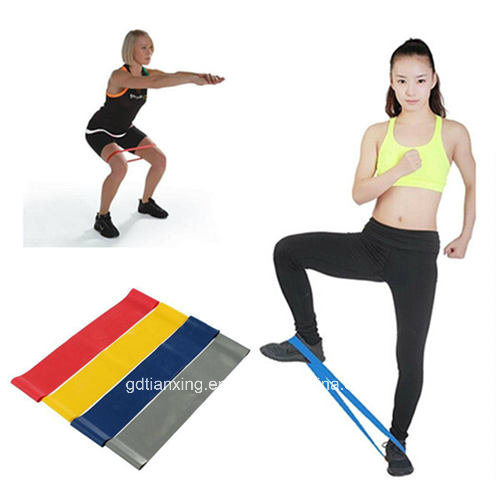 China Latex Resistance Mini Band Exercise Loop Band Set