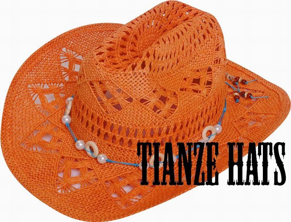 Twist Paper Cowboy Straw Hat