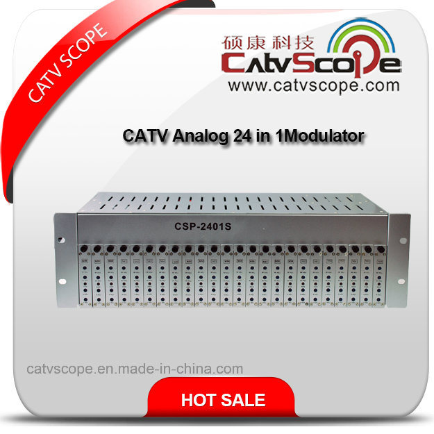 CATV Analog 24 in 1 Fixed Adjacent Channel Combiner Modulator
