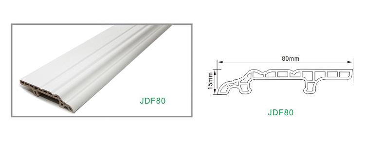 White Flexible Decorative Skirting Boards for Vinyl Flooring