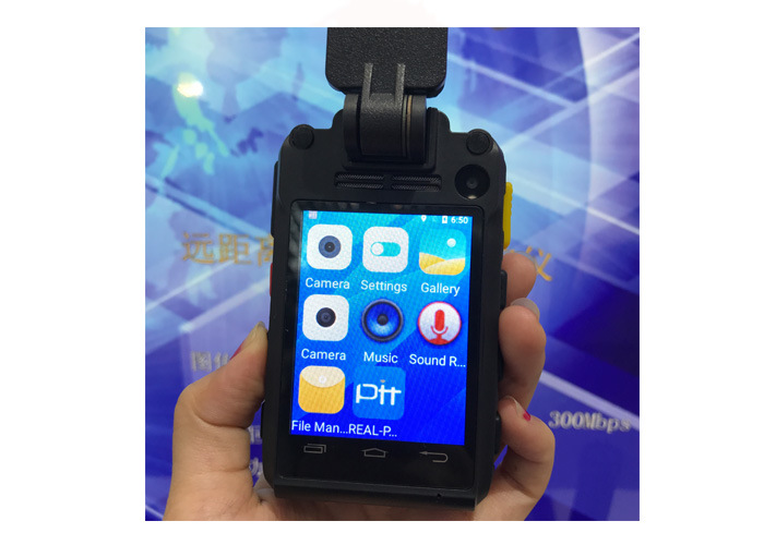 WiFi 4G 3G 2.8′′ Police Body Worn Camera Support External Mini Camera and Remote Control