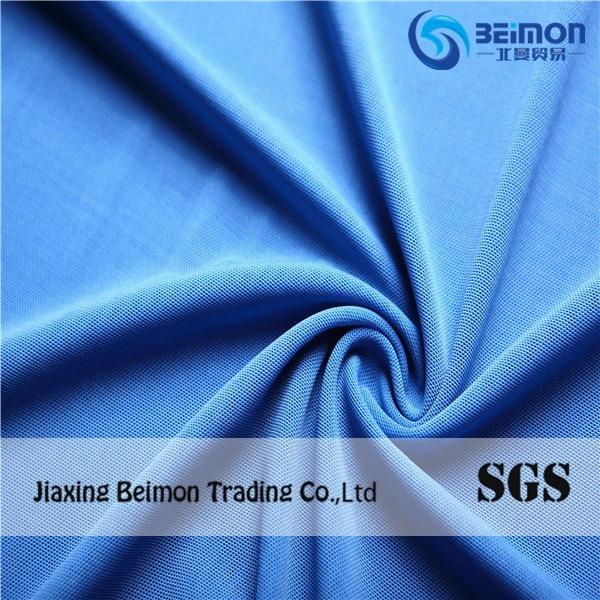 Modern Plain Dyed Nylon Spandex Mesh Fabric