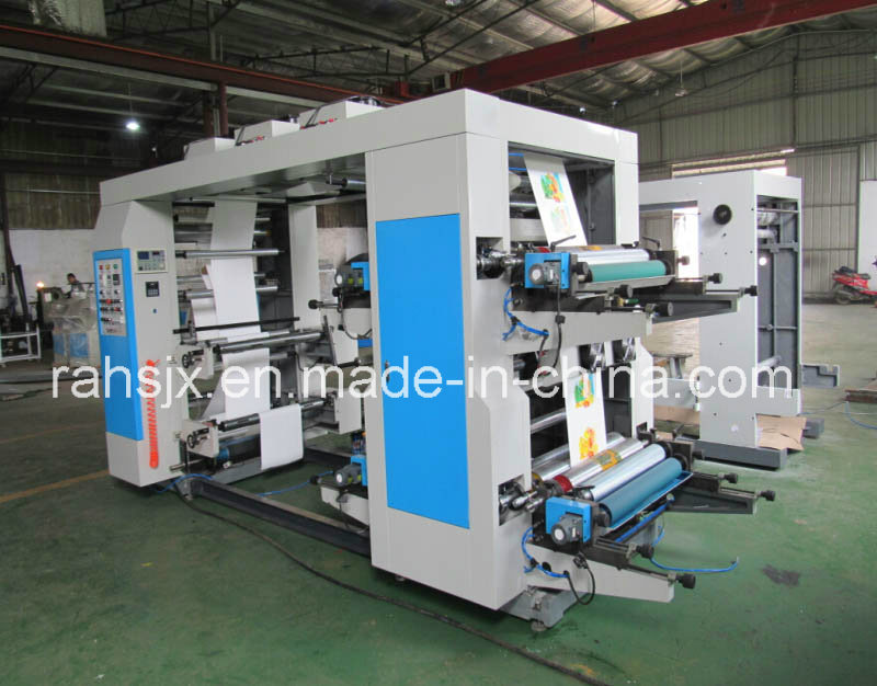 Plastic Film 4 Colors Flexographic Printing Machine