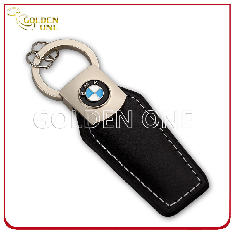 Customized Design Leather Keyring with Soft Enamel Logo