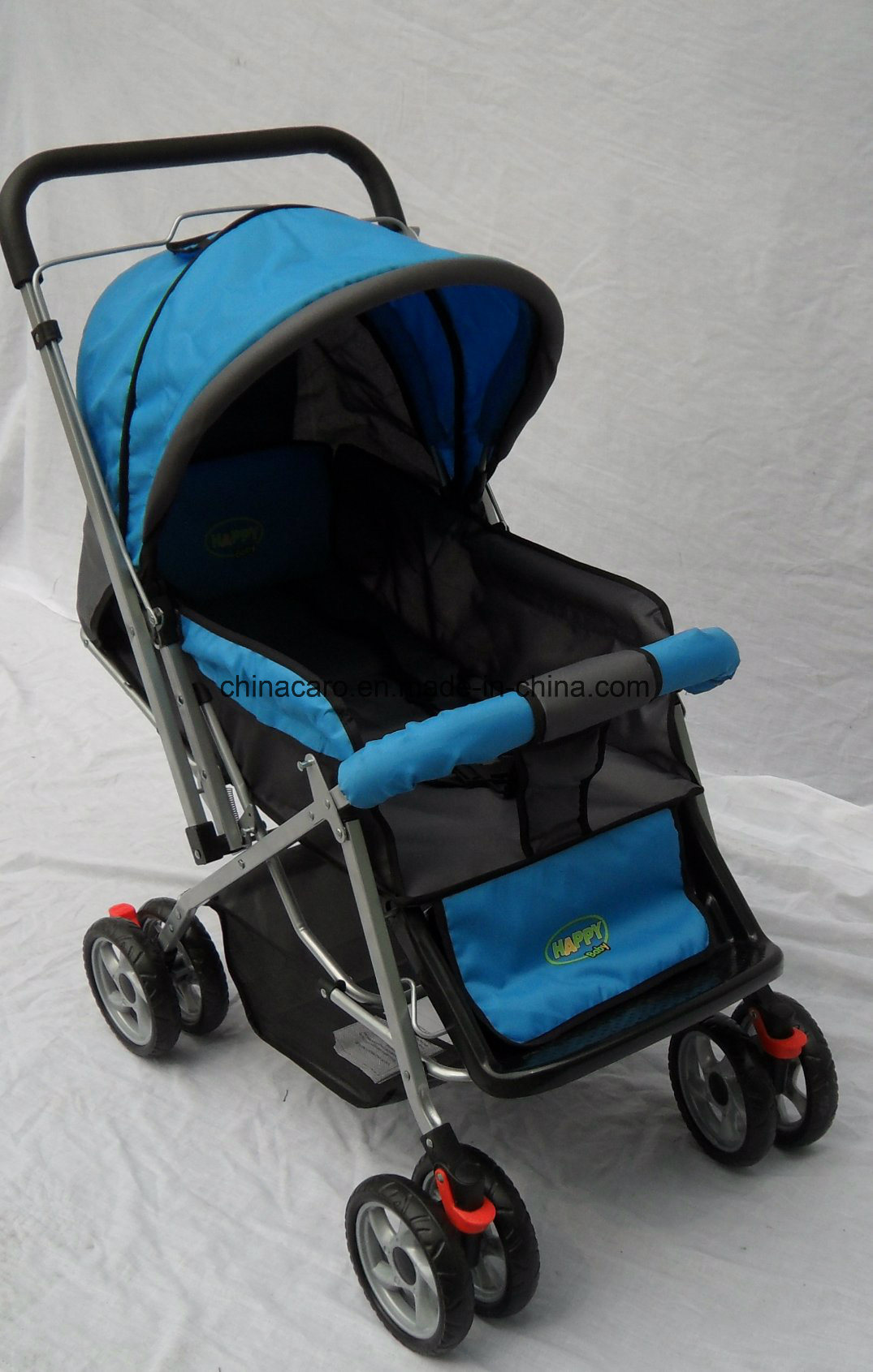 European Standard Fold Baby Stroller with Mosquito Net