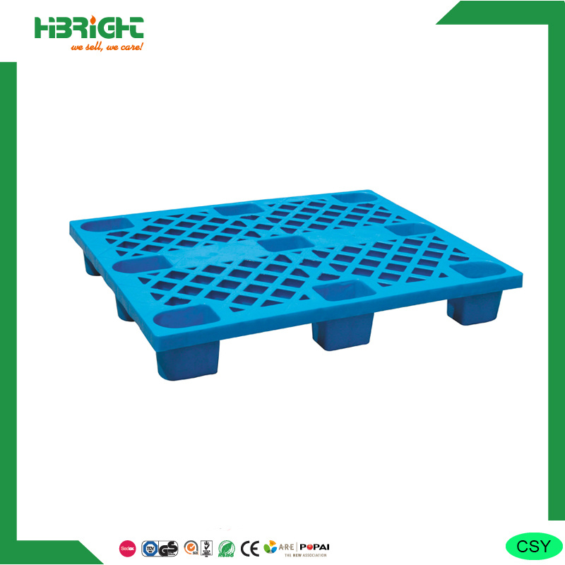 Easy-Clean Nine Feet Single Side Plastic Pallet