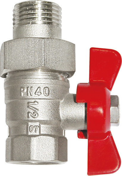 Male Thread Brass Gas Ball Valve with Nickel