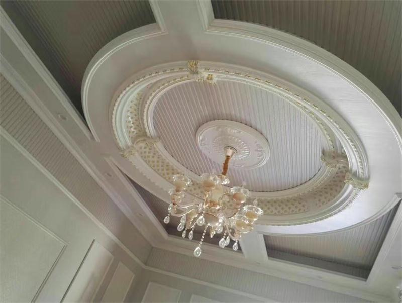 High Density PU (polyurethane) Ceiling Medallions Lamp Pool for Ceiling Decoration