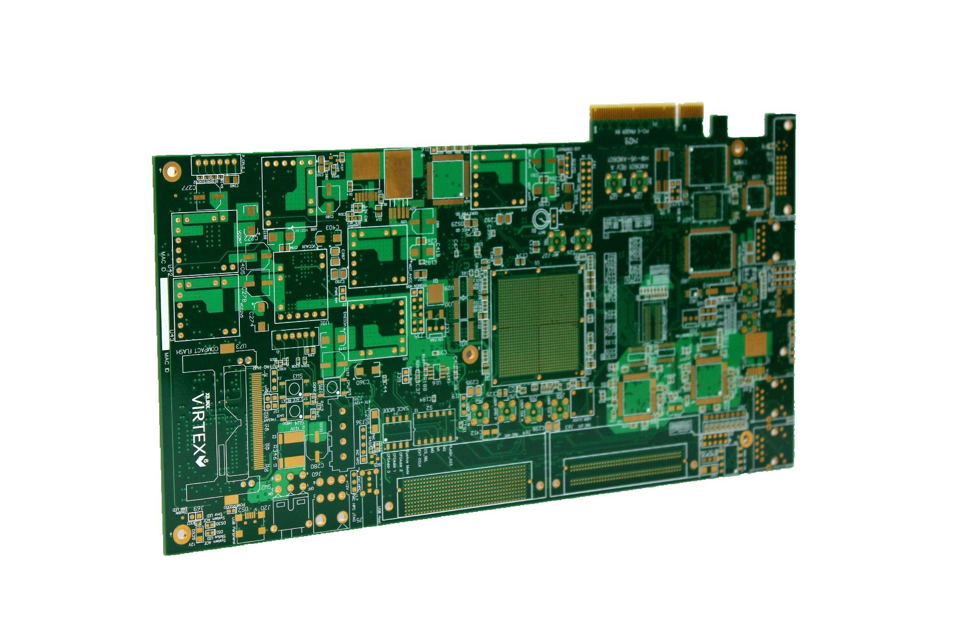 10 Layer Medium Tg Gold Finger PCB Prototype for Industrial Control