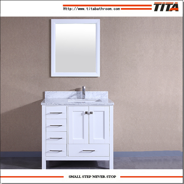 2017 Hot Selling Solid Wood Bathroom Cabinet T9199-48W