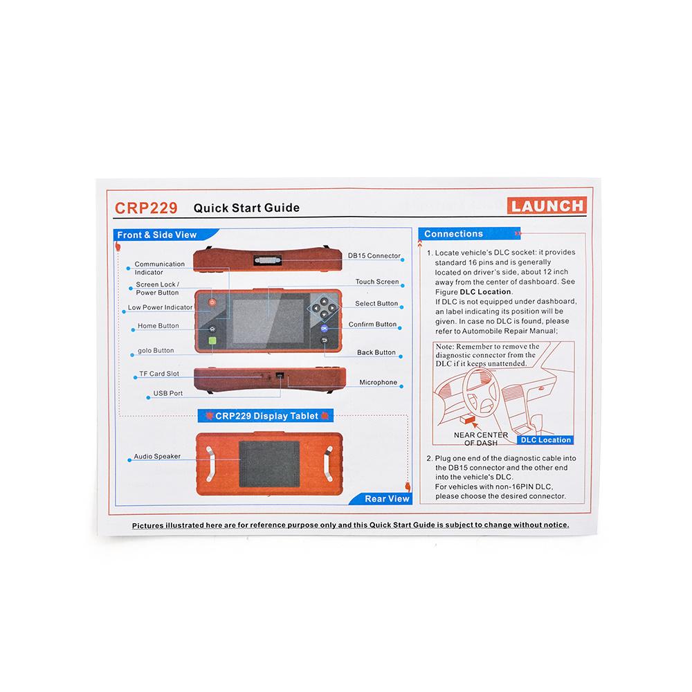 """Launch Creader Crp229 Touch 5.0"""" Android System OBD2 Full Diagnostic Scanner"""