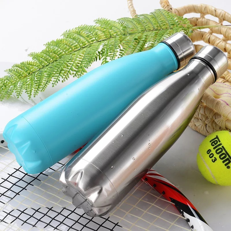 500ml Stainless Steel Double Wall Vacuum Water Sports Bottle (SH-ST17)
