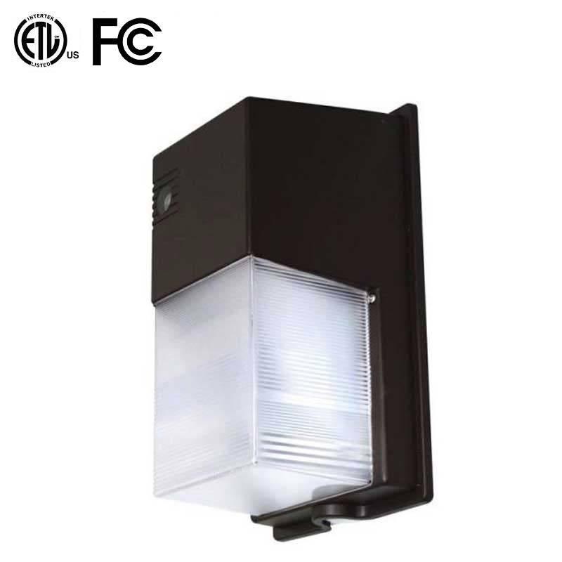 24W Mini LED Wall Mount Luminaire with Photo Sensor, ETL Listed, 5-Year Warranty