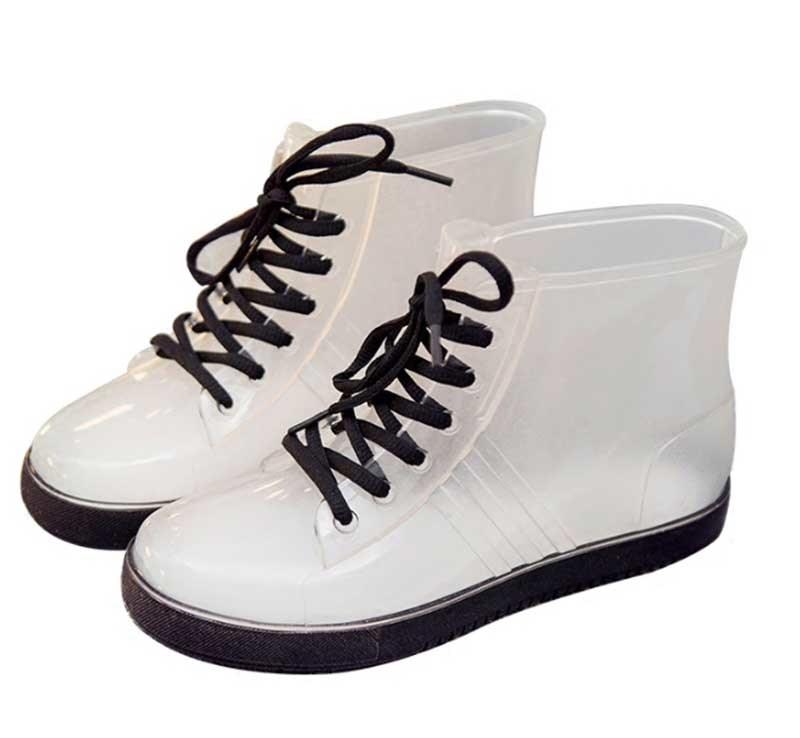 Jelly Women PVC Galoshoes Rain Boots