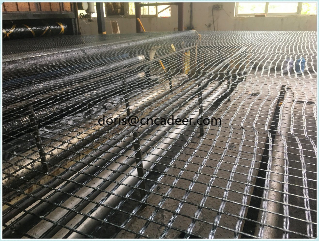 50kn Fiberglass Geogrid for Old Road