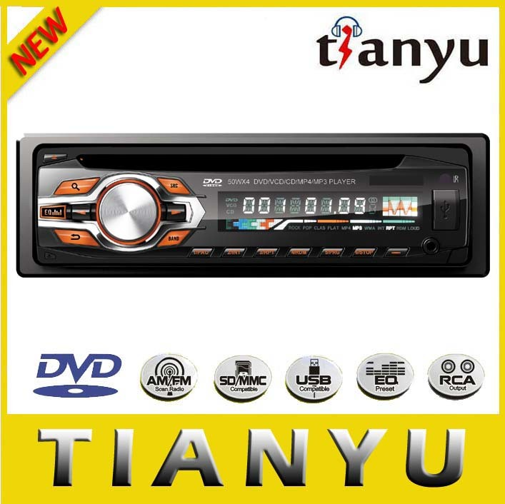 Single DIN Car CD DVD Disc FM Radio USB SD MP3 DVD Bluetooth Good Quality