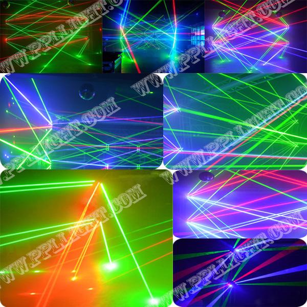 Stage Disco DMX 8eyes RGB/Green Moving Head Spider Laser Light