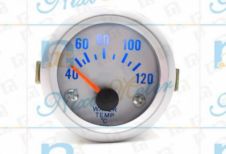 40-120 Modified Vehicle Water Temperature Gauge of White Light
