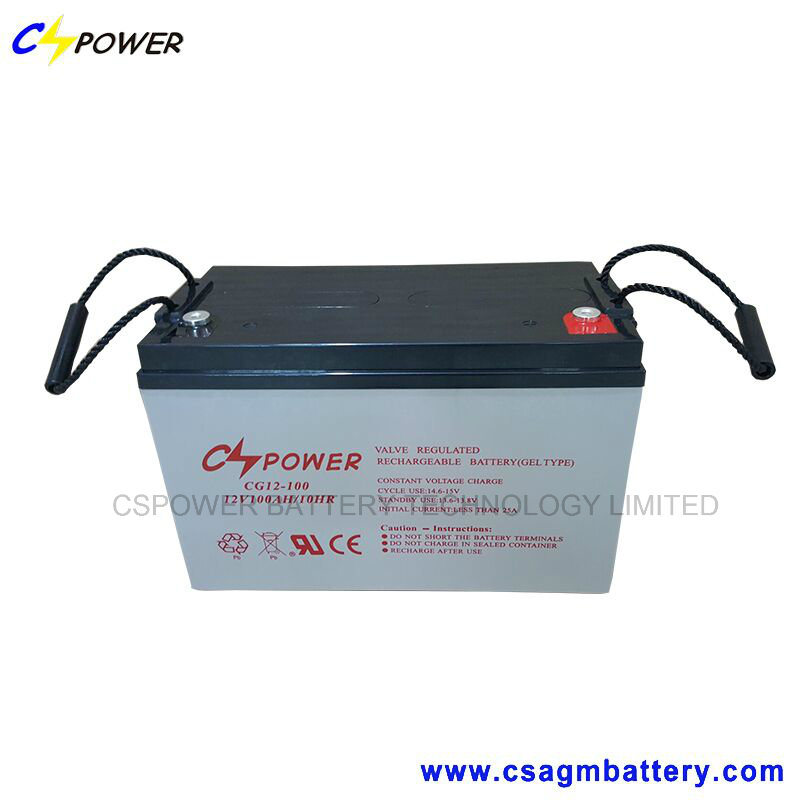 Maintenance Free Gel Battery 12V 100ah for Solar Use