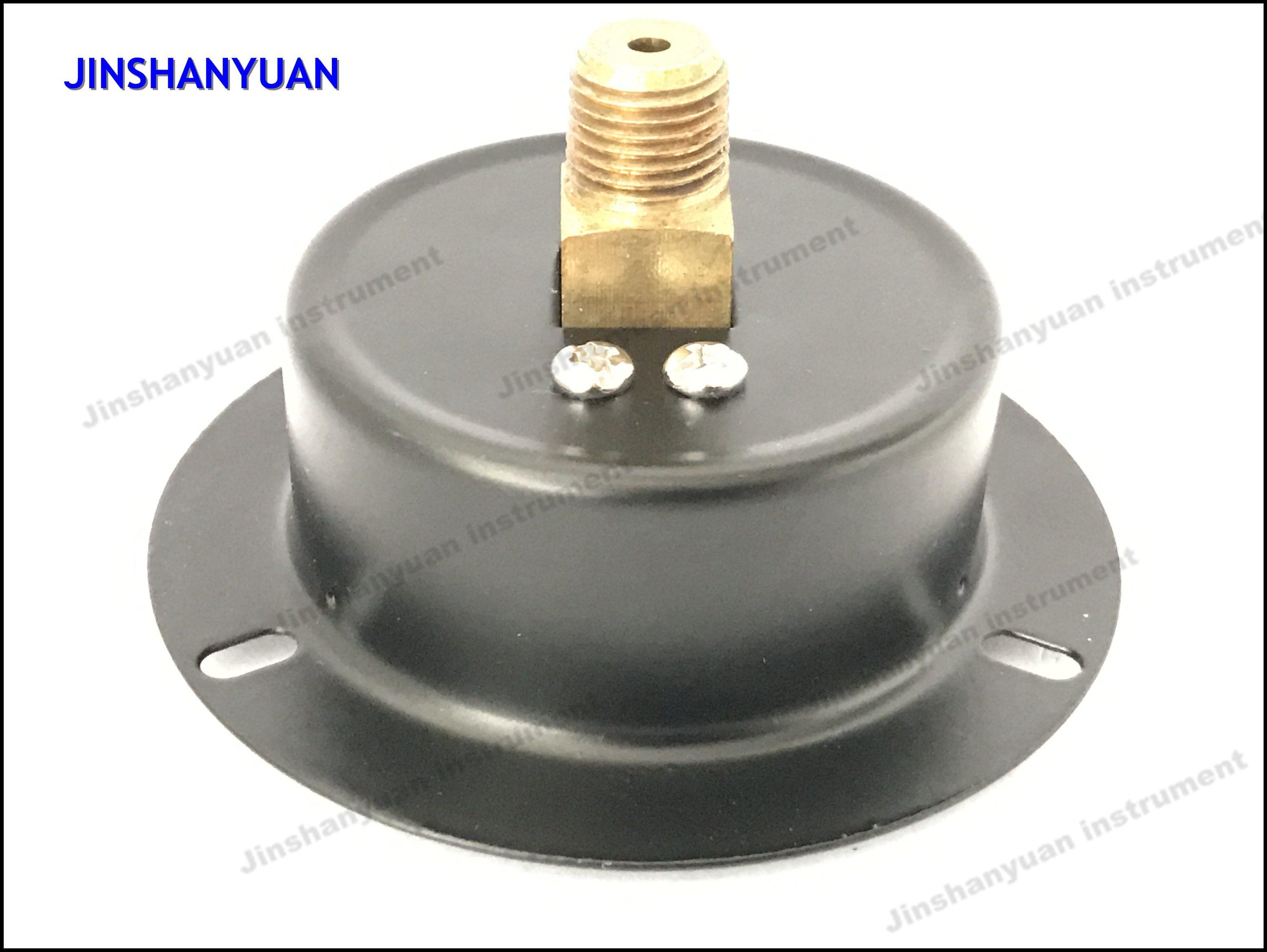 Gpg-013 Black Steel Ordinary Pressure Gauge with Front Flange /Back Mount Air Manometer
