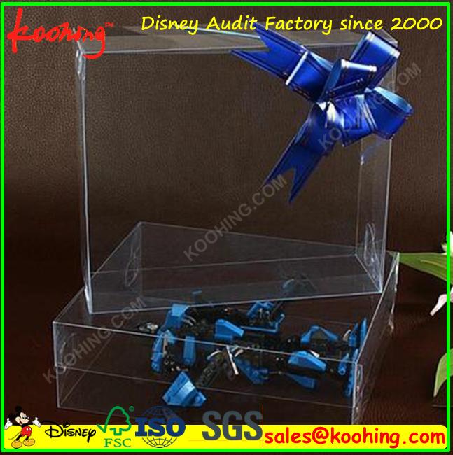 Custom Printing Plastic Clear Pet PVC Retail Packing Gift Box