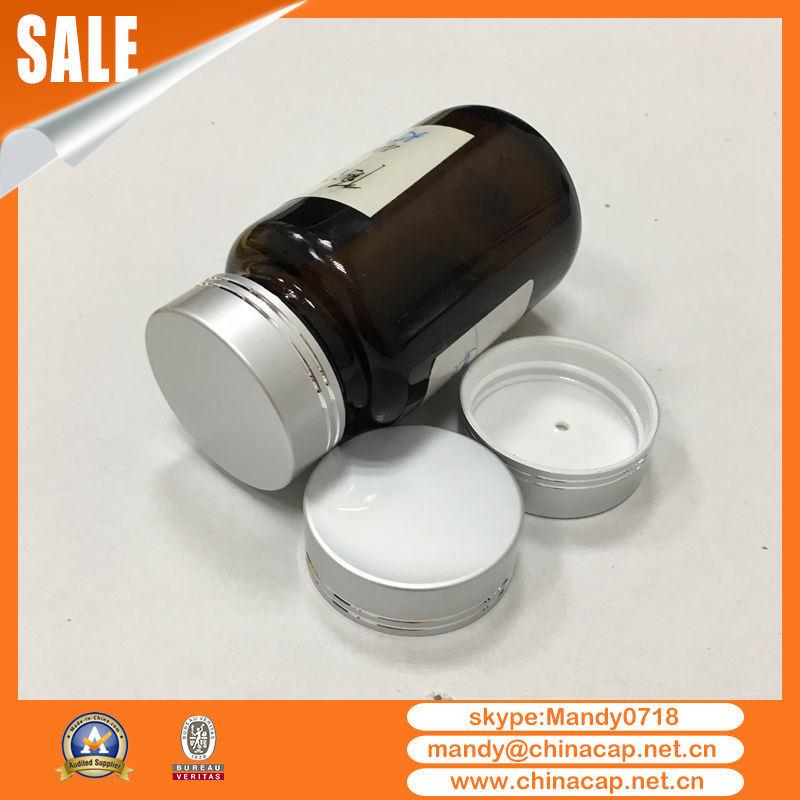 Empty Medicine Bottle Metal Aluminium Screw Cap