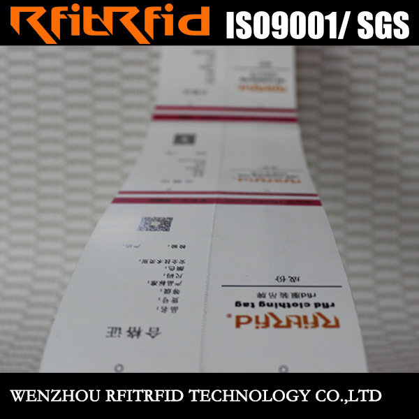 UHF/ 860-960MHz Color Sticker RFID Passive Label for Clothing
