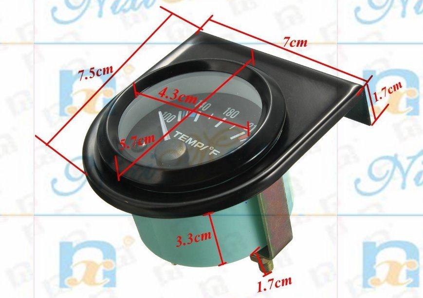"""2"""" 52mm Voltmeter Gauge of Black Background"""