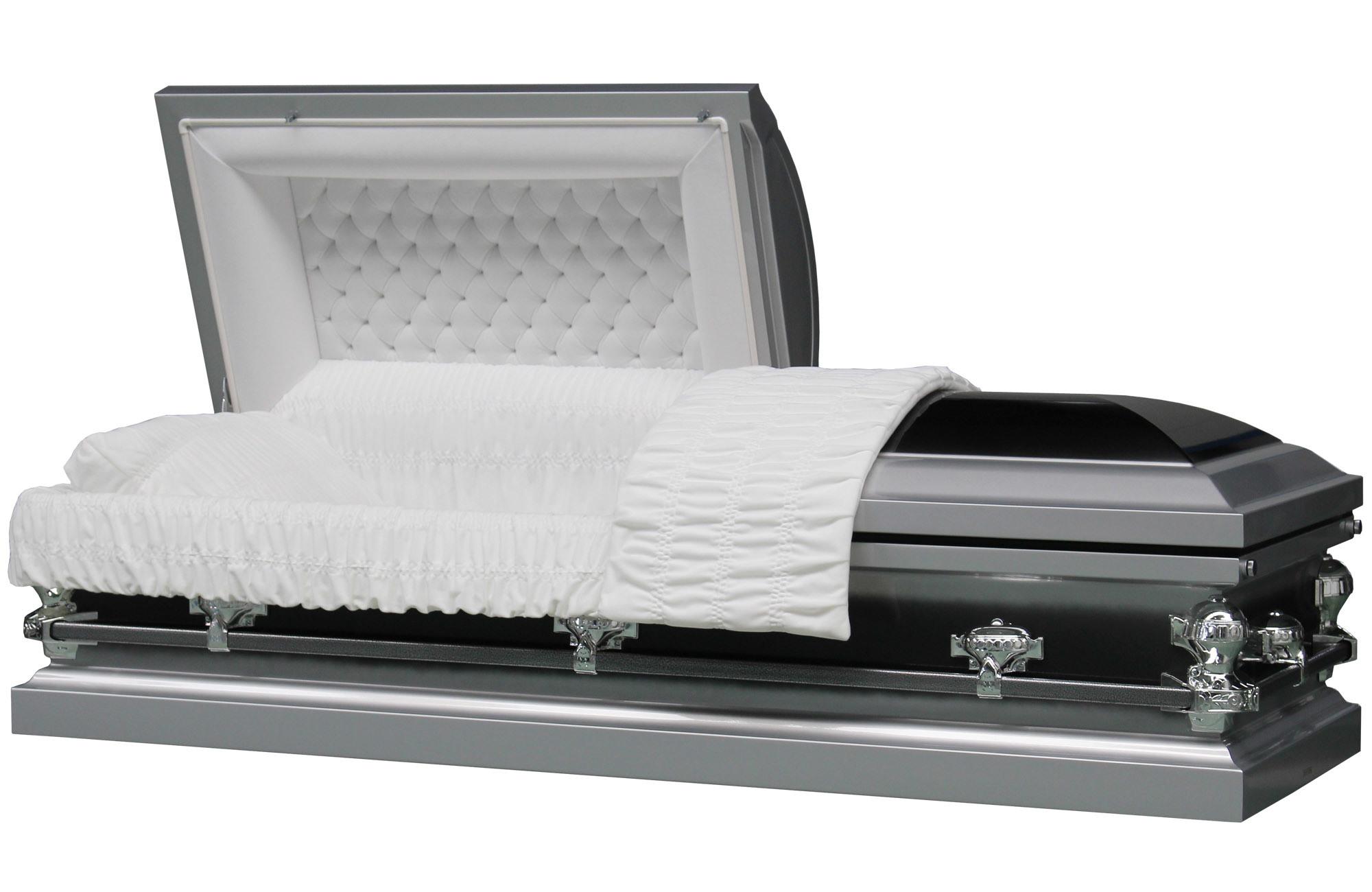 Butler Silver Brush Metal Casket for Us Market Funeral Coffin