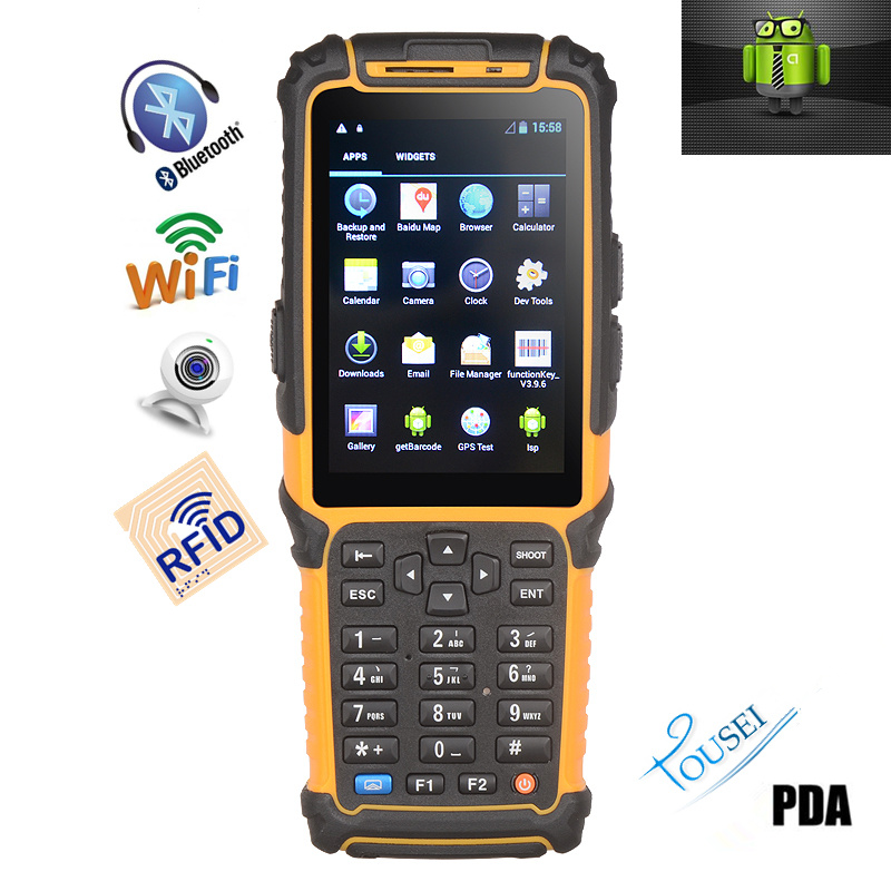 Android 4.2 OS Tablet PC Data Terminal Ts-901s Barcode Scanner with Display PDA