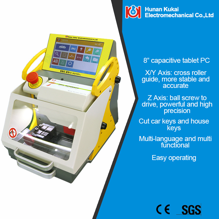 2016 New Arrival Sec-E9 The Best Locksmith Tool Key Cutting Machine Made in China