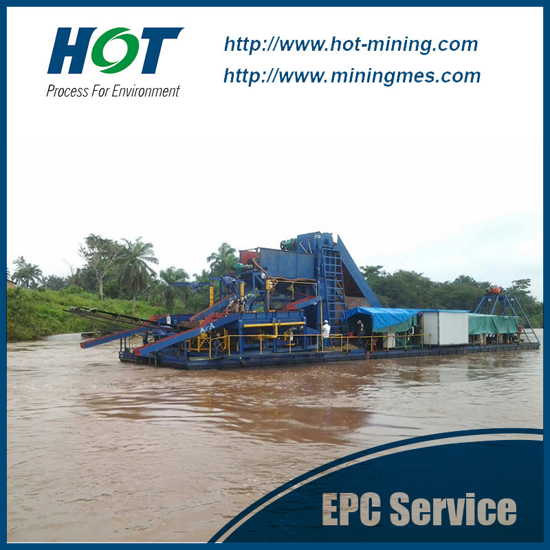 Mining Machine Chain Bucket Gold Dredge