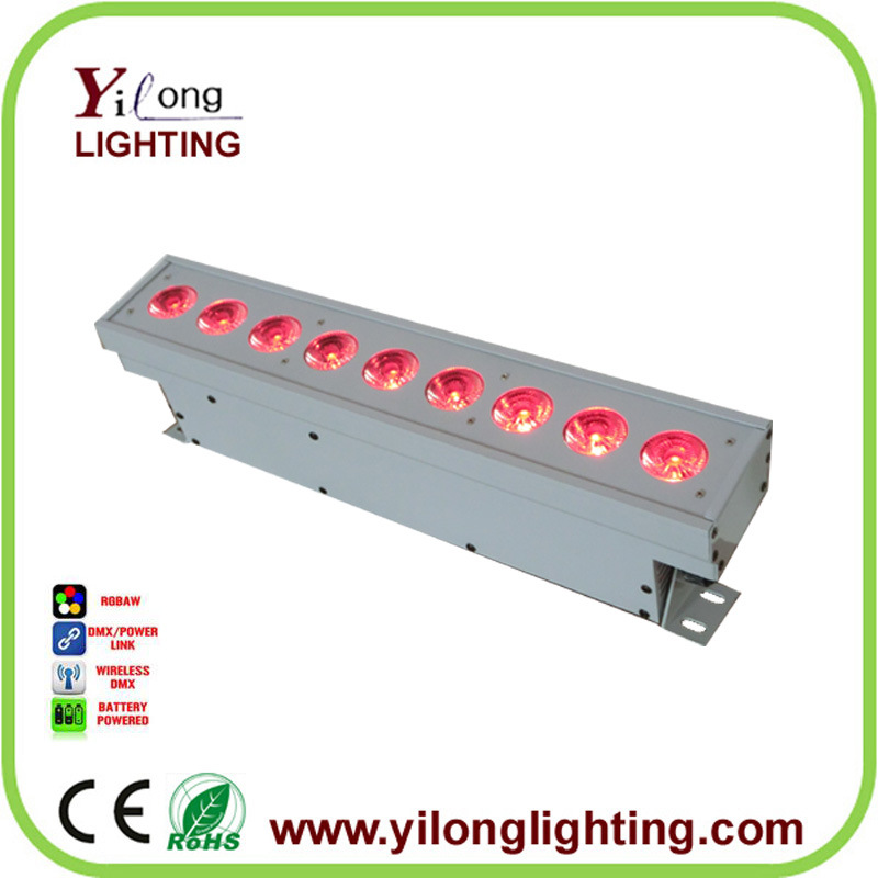 2017 New 9X15W Rgabw Battery Transmitter LED Wall Washer