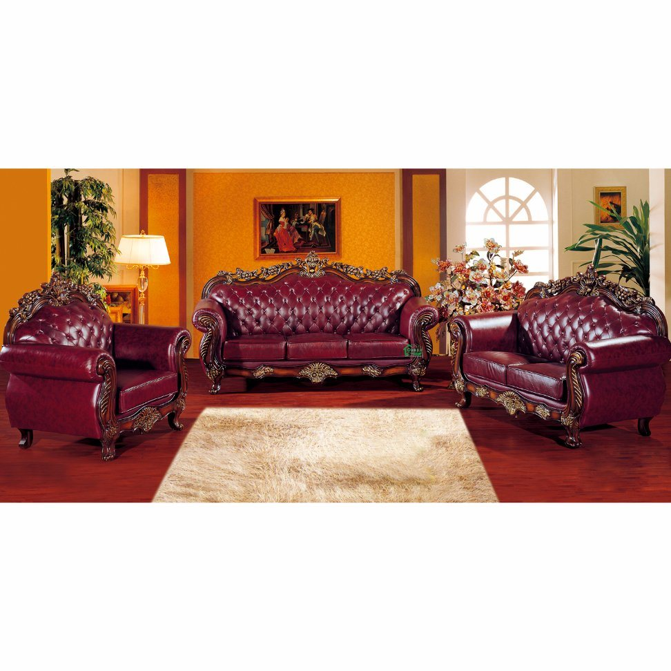 China Wood Leather Sofa Set For Living Room Furniture 929u Photos Pictures Made In