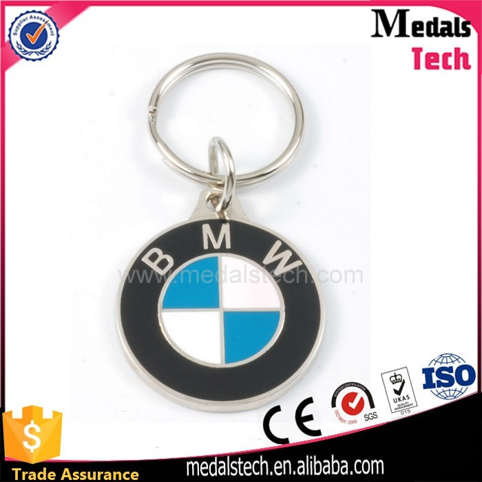 Wholesale Metal Hard Enamel Round BMW Keychain with Ring