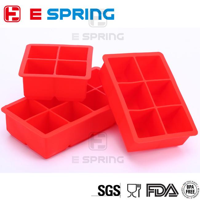 DIY Creative Big Ice Cube Mold Square Shape Silicone Ice Tray Fruit Ice Cube Maker