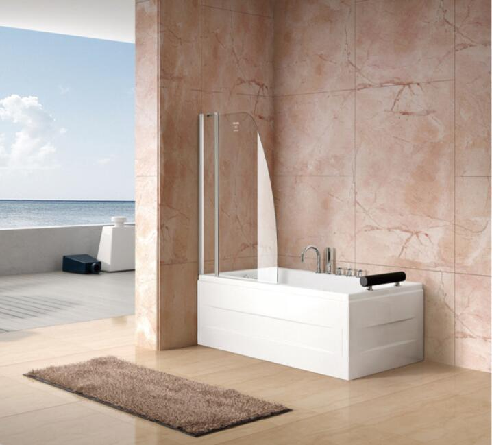 Bathroom 6mm Double Sail Bath Screen Shower Screen