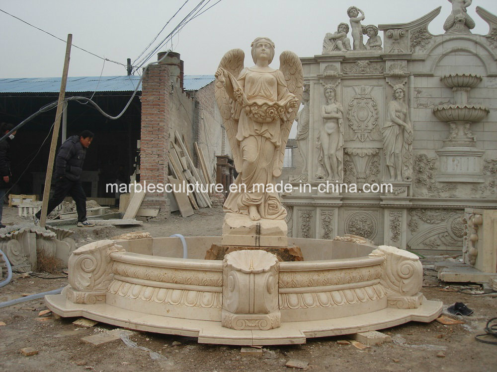 High Quality Lady Statue Marble Water Fountain (SY-108)