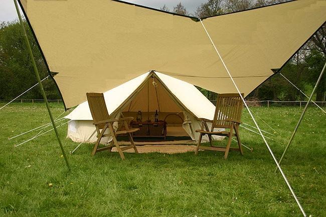 China 5m canvas bell tent with canopy china canvas tent bell tent - Canvas canopy ...