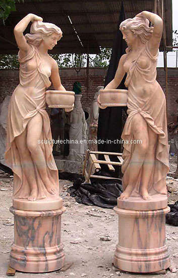 Natural White Marble Carving Sculpture (SK-2056)