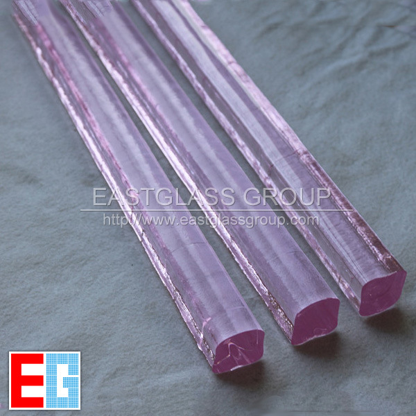 Colored Crystal Glass - Pink U Glass Rods