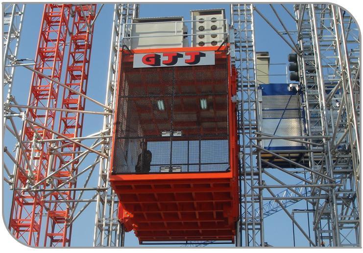 Tower crane gjj : China gjj twin mast building hoist sc g